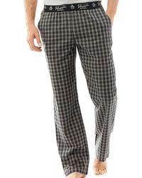 Original Penguin - Woven Lounge Trousers Black Check - Lyst
