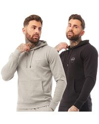 883 Police Sweat à Capuche Joesef Two Pack Multicolore - Gris