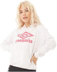 Umbro Projects Classic Over The Head Hoodie White/sorbet