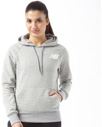 New Balance - Core Fleece Hoodie Athletic Grey - Lyst