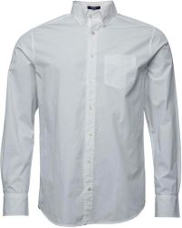 GANT - Solid Broadcloth Reg Fit Shirt White - Lyst