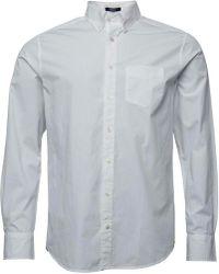 GANT - Solid Broadcloth Reg Fit Shirt White - Lyst