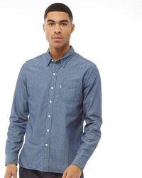 Levi's Premium - Orange Tab Chambray Shirt - Blue - Lyst