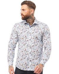 883 Police Delfino Long Sleeve Shirt White Mix - Multicolour
