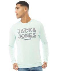 Jack & Jones Sweat Mount Turquoise-Vert - Multicolore