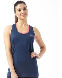 ELLE Sport - Lightweight Performance Vest Blueberry Duo/pink Rage - Lyst