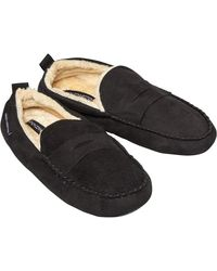 French Connection Moccasin 3 Slippers Black