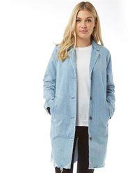 Levi's Josette Coat Josette Stonewash - Blue