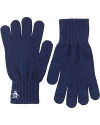 Original Penguin - Rib Gloves Navy - Lyst