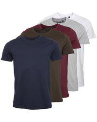 Brave Soul T-Shirt Mehrfarbig - Blau