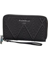 Fiorelli - Sport Rapid Zip Around Purse Black Quilt - Lyst