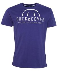 Duck and Cover Brightslore Graphic T-shirt Deep Purple