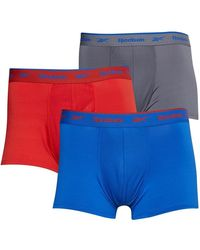 Reebok Yaron Performance Three Pack Short Trunks Legacy Red/cold Grey/humble Blue