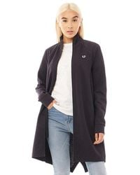 Fred Perry Reverse Tricot Parka Navy - Blue