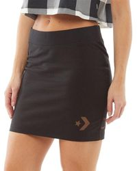 Converse Star Chevron Burnout Mini Skirt Black
