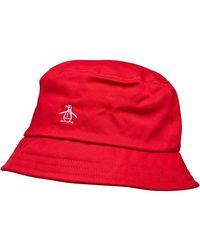 Original Penguin Chapeau Core Bucket Rouge