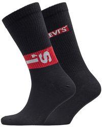 Levi's 168 Series Lazy Tab Zwei Pack Socken Schwarz