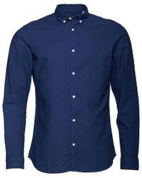 Jack & Jones - Premium Summer Long Sleeve Button Down Shirt Sargasso Sea - Lyst