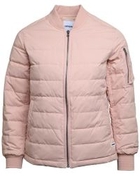 Converse - Oversized Ma-1 Down Bomber Jacket Pink/silver - Lyst