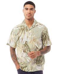 Jack & Jones Marty Organic Short Sleeve Shirt Green Milieu - Multicolour