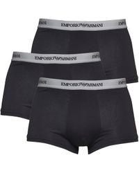 Emporio Armani - Three Pack Trunks Black/grey - Lyst