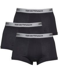 Emporio Armani 3 Pack Trunks Boxershorts Zwart