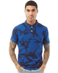 Superdry Polo Tropic Army Bleu Camouflage