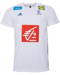 adidas Fhf French Handball Away Voetbal Jersey Wit