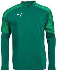 PUMA Cup 1/4 Zip Training Top mit langem Arm Grün