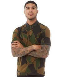 Fred Perry Arktis Ringer T-shirt Ak Woodland Camo - Green