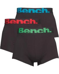 Bench - Three Pack Boxers Black - Lyst