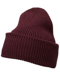bd249990276 French Connection Plain Knit Beanie Camel in Natural for Men - Lyst
