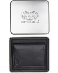Animal Rife Leather Card Wallet Black