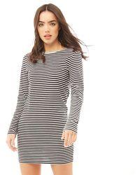 Brave Soul Cilli Midi Striped Dress Black/white/charcoal - Multicolour