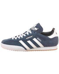 adidas Originals Samba Super Suede Sneakers Marine/wit/gum - Blauw