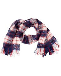 Superdry Super Orkney Scarf Navy/red/white - Blue