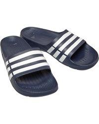 adidas Duramo Slides Dark Blue/footwear White/dark Blue