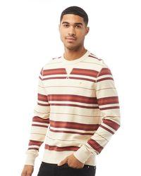 Farah Noble Long Sleeve Sweatshirt Cream - Multicolour