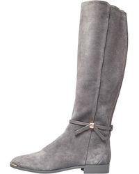 Ted Baker Lykla Bow Detail Knee High Boots Grey