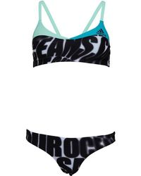 adidas - Beach Volleyball Performance Bikini Black/white/easy Green - Lyst
