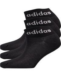 adidas Three Pack Ankle Socks Black/white