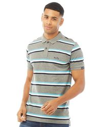 Tokyo Laundry Polo Chilliwack Rayures Multicolores - Gris
