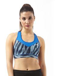 aa3a11e922 Lyst - Adidas Originals Techfit Sports Bra in Blue