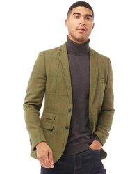 French Connection Blazer Tweed Square Vert