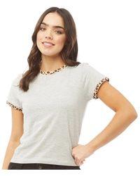 Brave Soul Tee-Shirt Claudine Gris