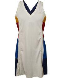 adidas X Pharrell Williams New York Colour Block Tennis Dress Chalk White