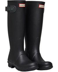 HUNTER Original Tall Wellington Boots Dark Grey/black