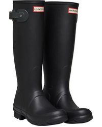 HUNTER ORIGINAL TALL GLOSS femmes Bottes en Noir - Multicolore