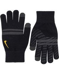 Nike Gestreept Tech & Grip Handschoenen Zwart