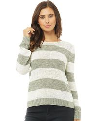 ONLY - Gabbi Long Sleeve Top Ether/white - Lyst